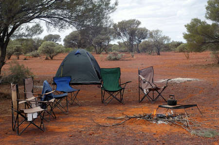 wilderness camping in the Australian bush