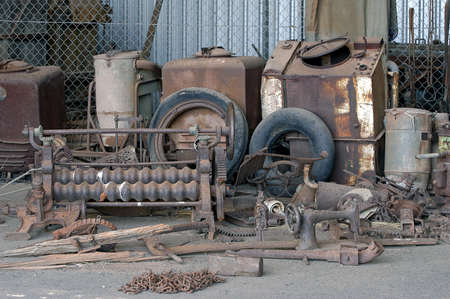old tools of the goldmine of Leonora exposed for the tourists photo