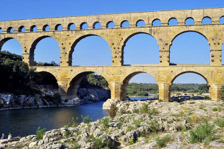 The bridge of Gard builds by the Romans