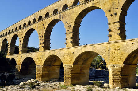 The bridge of Gard builds by the Romans   photo