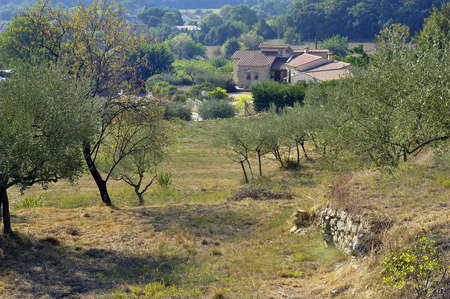 French landscape of the Cevennes in the department of Gard