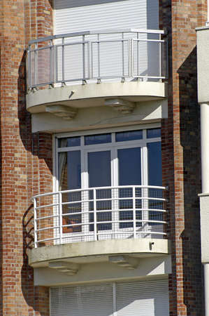 frontage of building of Touquet in the north of France Stock Photo - 17827851