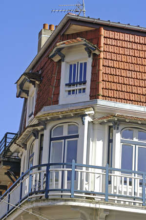 frontage of building of Touquet in the north of France                                 Stock Photo - 17827854