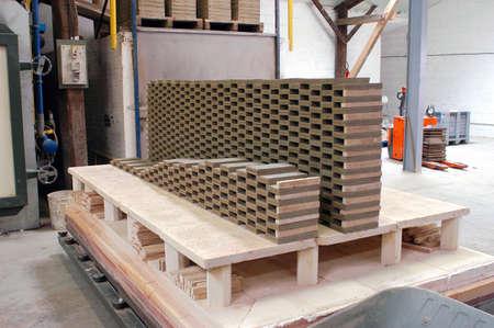 manufacturing plant of bricks photo