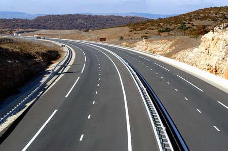motorway landscape Stock Photo - 18067396