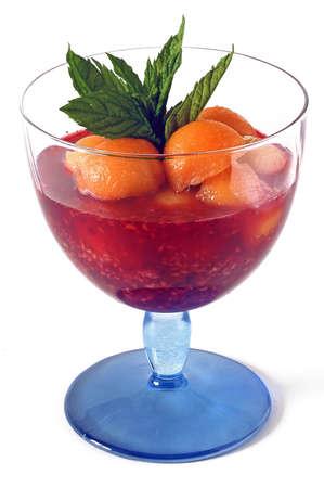 glass serves fruits