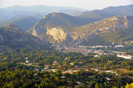 Anduze city of the Cevennes in the department of Gard