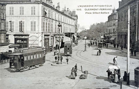 old postcard of Clermont-Ferrand
