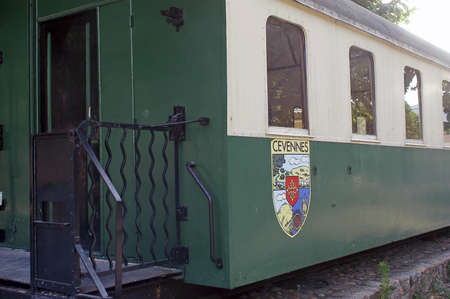 small tourist train of Saint-Jean-of-Gard with Anduze, the station