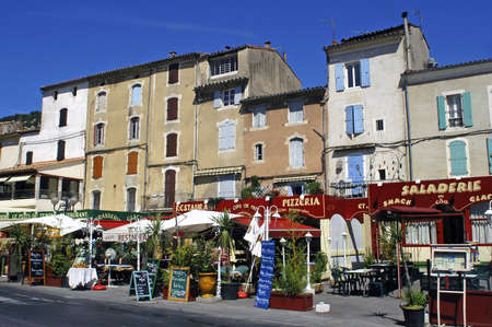 Anduze, French tourist city of the Cevennes