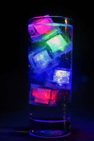 ice floes: Luminous ice floes to have fun Stock Photo
