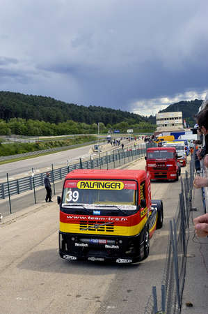 Ales - France - Grand Prix of France trucks May 25th and 26th, 2013 on the circuit of the Cevennes. Editöryel