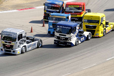 Ales - France - Grand Prix of France trucks May 25th and 26th, 2013 on the circuit of the Cevennes.