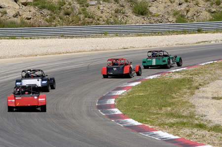 chases of Caterham on the circuit of the Cevennes with Ales in the French department of Gard the May 24th and 25th, 2013. On the circuit