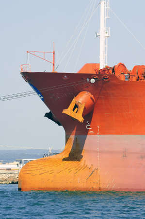 quay tanker to discharge its cargo in France with the wearing of Fos-sur-Mer beside Marseille Stok Fotoğraf