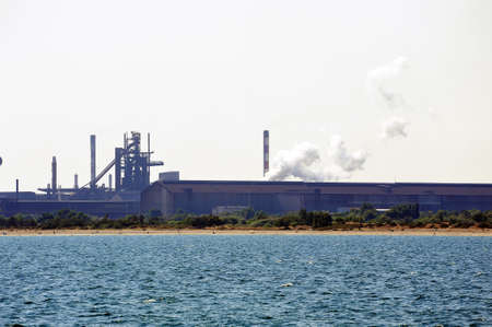 steelworks: Industry on the wearing of Fos-sur-Mer beside Marseille  Editorial
