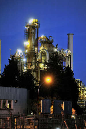 French oil refinery in Fos on sea beside Marseille  Stock Photo - 21838210