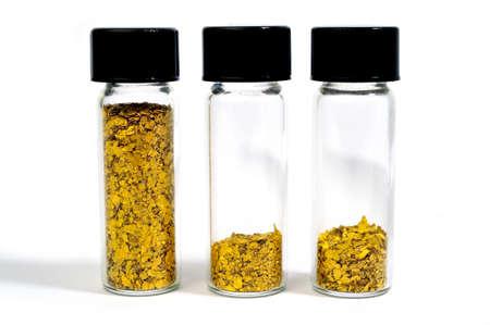 Vial Glitter Gold harvested in river