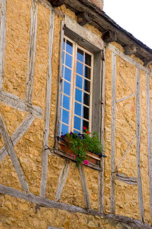 A window of an old building in the center of Sarlat photo
