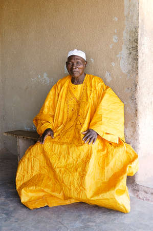 kinfolk: portrait of a Great Father in his African home in Ouagadougou Editorial