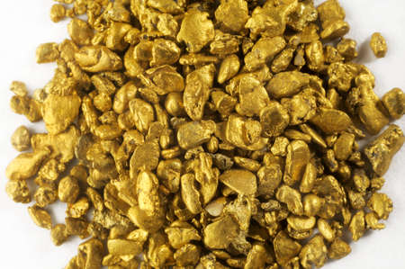 alluvial: pile of alluvial gold nuggets found in France
