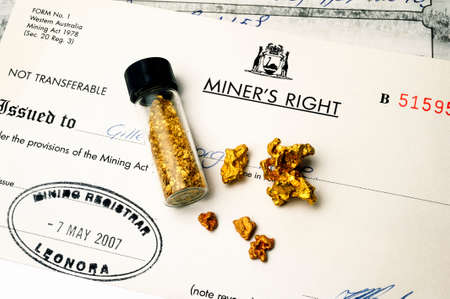courtesy: Australian mining permit issued by the police to have the right to seek gold in Australian soil Editorial