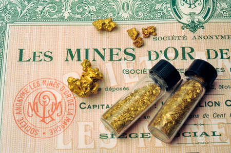 Stock under a French gold mine now closed for many years due to lack of profitability