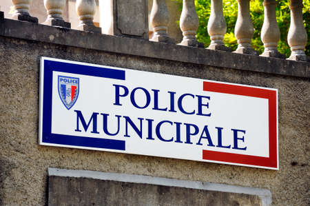 Sign the French municipal police