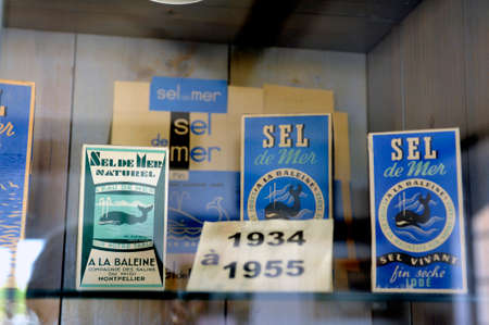 inception: Showcase the collection of packaging of sea salt in society Whale since the inception of the company 80 years ago. Editorial