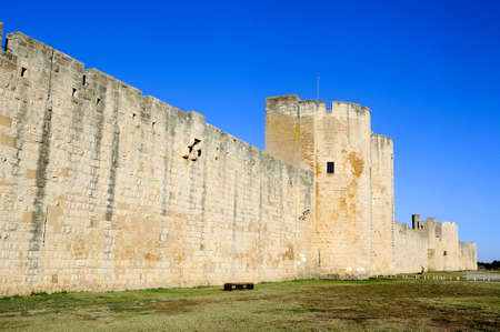 ramparts: the ramparts of Aigues-Mortes medieval walled city in the Camargue in the south-east of France.