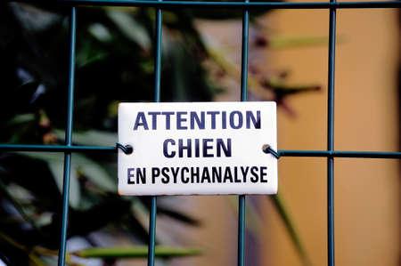 psychoanalysis: Warning! dog in psychoanalysis, Even Stronger Than vicious dog.