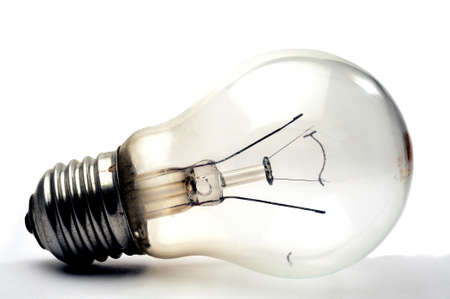 retraining: Light bulb recycling waste legacy tungsten on white background