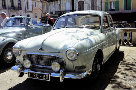 Renault frigate dating from 1956 photographed in gathering old Town Hall Square car in the town of Ales