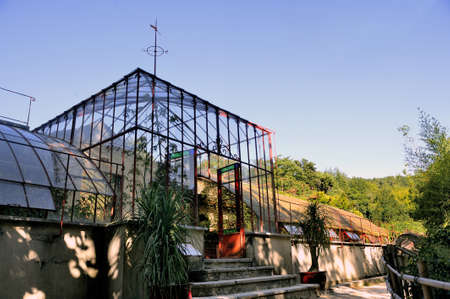 promoted: tropical greenhouses park Anduze bamboo where almost all species are represented and promoted in an Asian garden