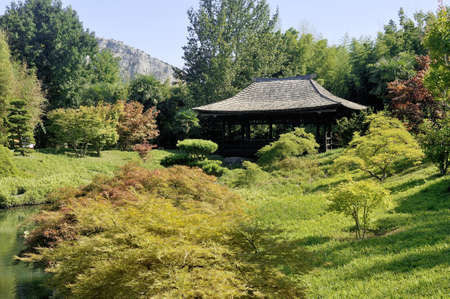 promoted: Japanese Garden Park Anduze bamboo where almost all species are represented and promoted in an Asian garden