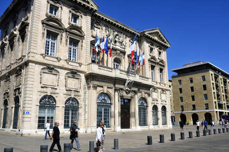 gaspard: City hotel building -Mairie of Marseille, on the Vieux Port. dating from the Seventeenth and 1653 Pierre Gaspard Puget architects. Editorial