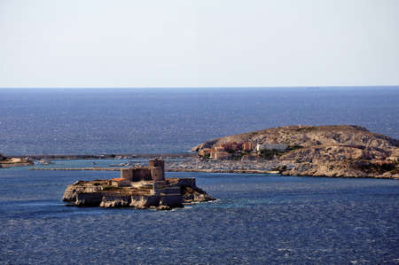 castle if: The castle of If and the island of Frioul off Marseille
