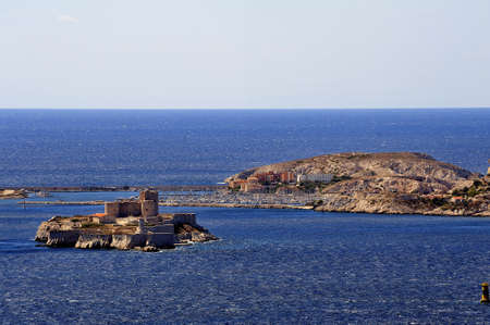 castle if: The castle of If and the island of Frioul off Marseille, very tourist place of international renown Stock Photo