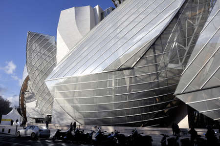 Museum of Contemporary Art of the Louis Vuitton Foundation created by the American architect Frank Gehry, the building is located Porte Maillot at the entrance of the Bois de Boulogne.