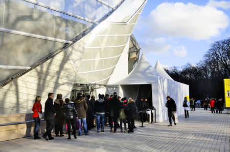 frank: Museum of Contemporary Art of the Louis Vuitton Foundation created by the American architect Frank Gehry, the building is located Porte Maillot at the entrance of the Bois de Boulogne.