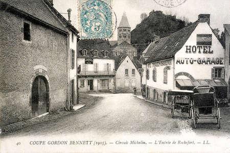 old postcard: old postcard of Rochefort, Gordon cut Benett