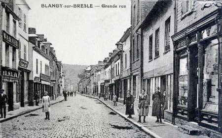 old postcard: old postcard, Blangy-sur-Bresle high street