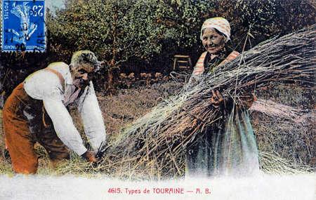 old postcard: old postcard, Touraine Editorial
