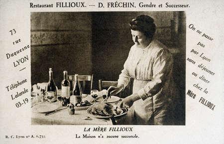 Alte Postkarte von Lyon, Fillioux Restaurant