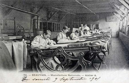 postal antigua, Beauvais, de fabricación nacional