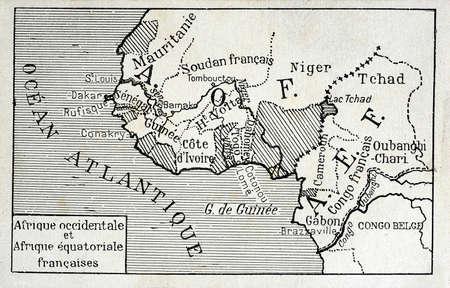 old postcard: old postcard of Africa
