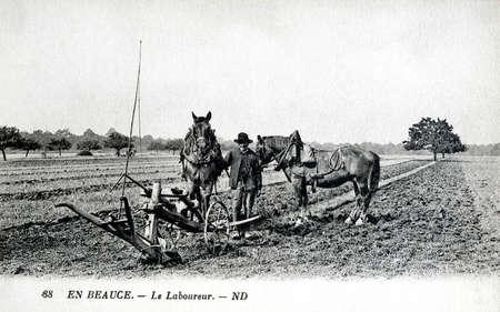laborer: old postcard, Beauce, the laborer