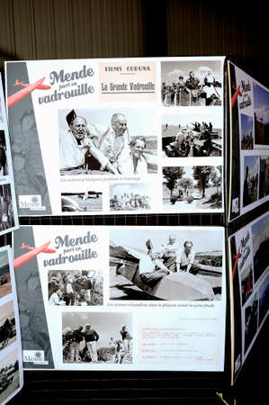 outside shooting: Memorial celebration in honor of the fiftieth anniversary of the filming of the Great Ramble with Bourvil and Louis De Funes on Mende airfield in the French department of Gard. Because the last scene of the film it proceeded with the launch of two gliders Editorial