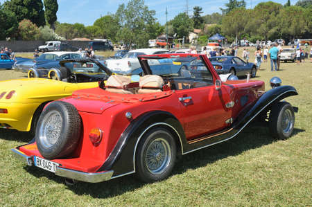 Suncar Arpege roadster built in the 80s with a mechanical basic Renault 5 by a French manufacturer of Annecy