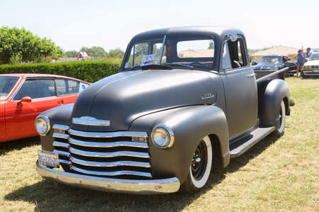 'pick up': Hot Rod on a base 1300 Chevrolet pick up presentation at a vintage car rally